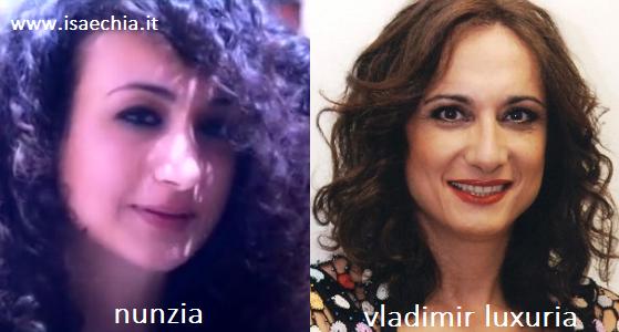 Somiglianza tra Nunzia e Vladimir Luxuria