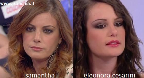 Somiglianza tra Samantha ed Eleonora Cesarini