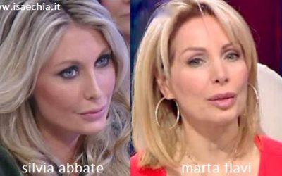 Somiglianza tra Silvia Abbate e Marta Flavi