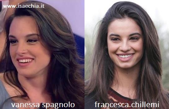 Somiglianza tra Vanessa Spagnolo e Francesca Chillemi