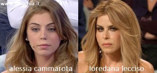 Somiglianza tra Alessia Cammarota e Loredana Lecciso