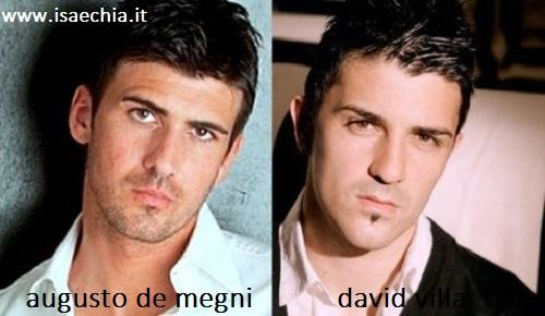 Somiglianza tra Augusto De Megni e David Villa