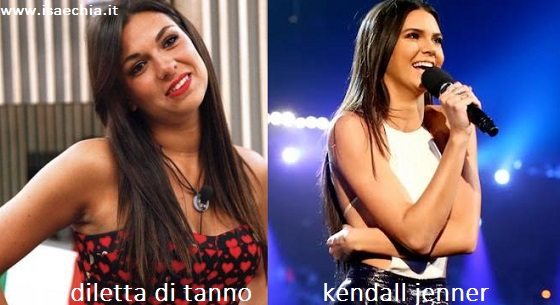 Somiglianza tra Diletta Di Tanno e Kendall Jenner