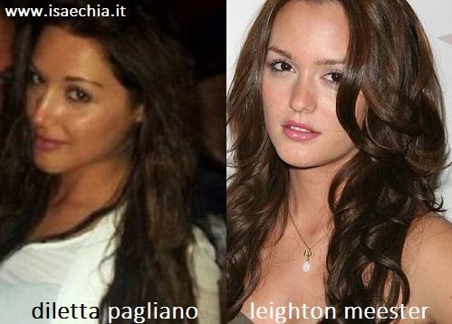 Somiglianza tra Diletta Pagliano e Leighton Meester