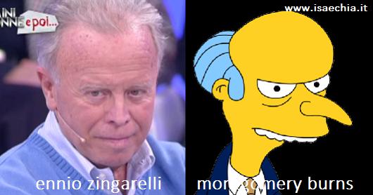 Somiglianza tra Ennio Zingarelli e Montgomery Burns