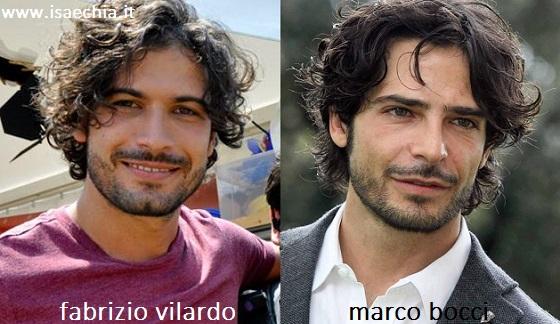 Somiglianza tra Fabrizio Vilardo e Marco Bocci