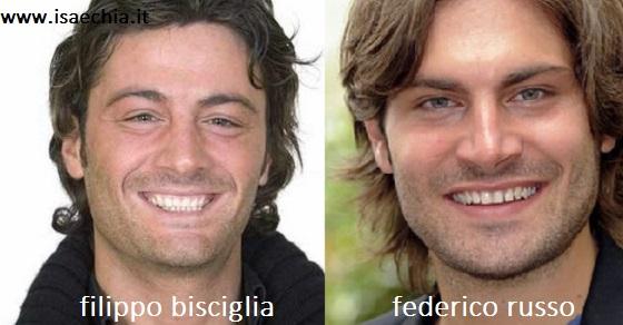 Somiglianza tra Filippo Bisciglia e Federico Russo