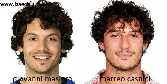 Somiglianza tra Giovanni Masiero e Matteo Casnici