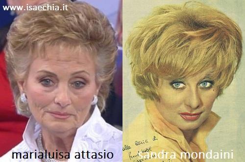 Somiglianza tra Marialuisa Attasio e Sandra Mondaini