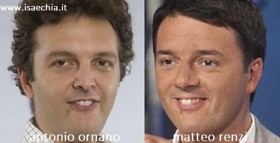 Somiglianza tra Matteo Renzi e Antonio Ornano