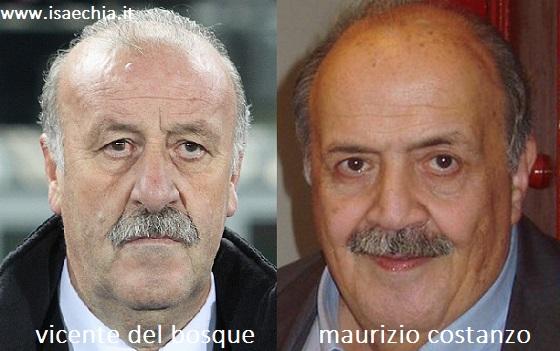 Somiglianza tra Vicente Del Bosque e Maurizio Costanzo