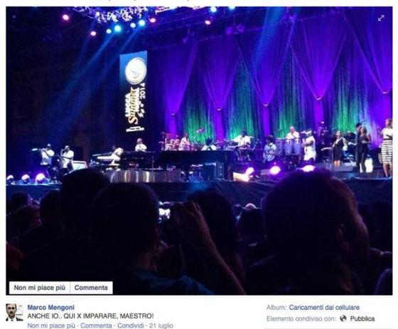Marco Mengoni al concerto di Stevie Wonder