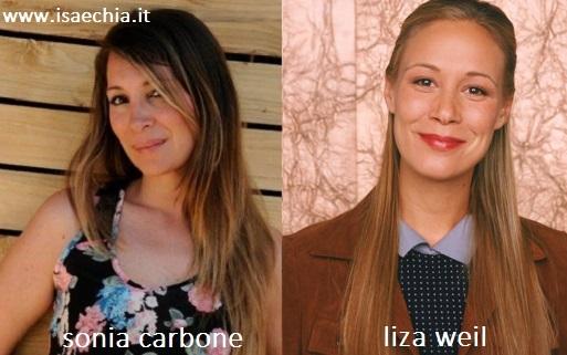 Somiglianza tra Sonia Carbone e Liza Weil