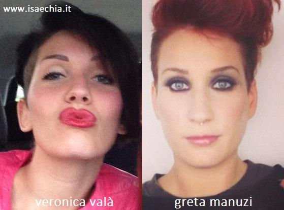 Somiglianza tra Veronica Valà e Greta Manuzi