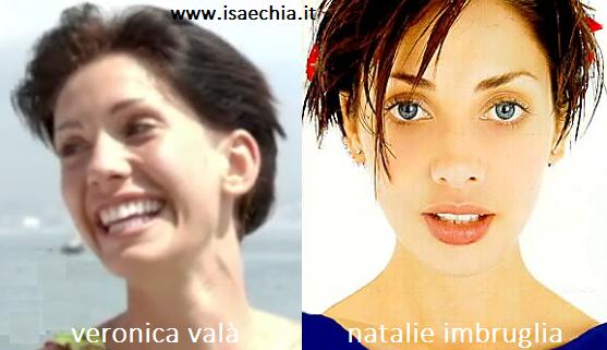 Somiglianza tra Veronica Valà e Natalie Imbruglia
