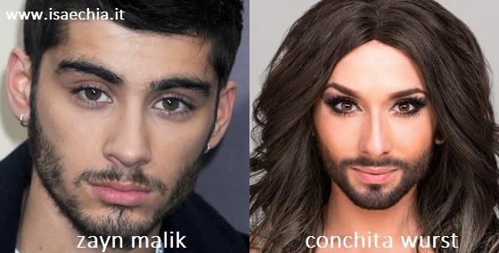 Somiglianza tra Zayn Malik e Conchita Wurst