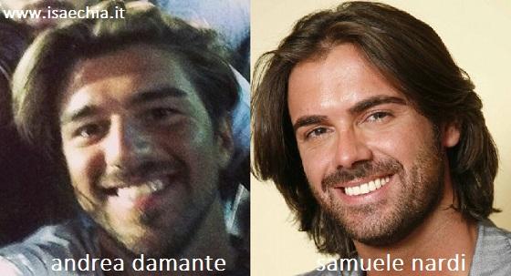 Somiglianza tra Andrea Damante e Samuele Nardi