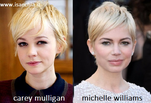 Somiglianza tra Carey Mulligan e Michelle Williams