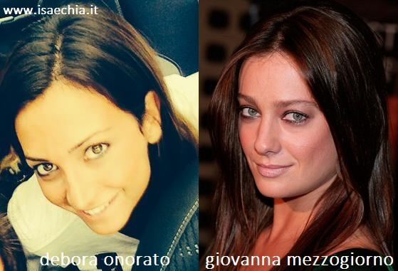 Somiglianza tra Debora Onorato e Giovanna Mezzogiorno