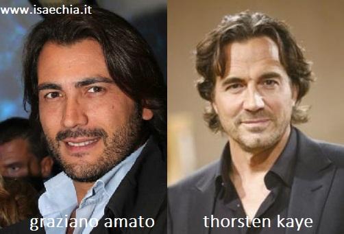 Somiglianza tra Graziano Amato e Thorsten Kaye