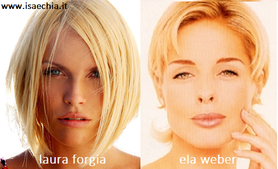 Somiglianza tra Laura Forgia e Ela Weber