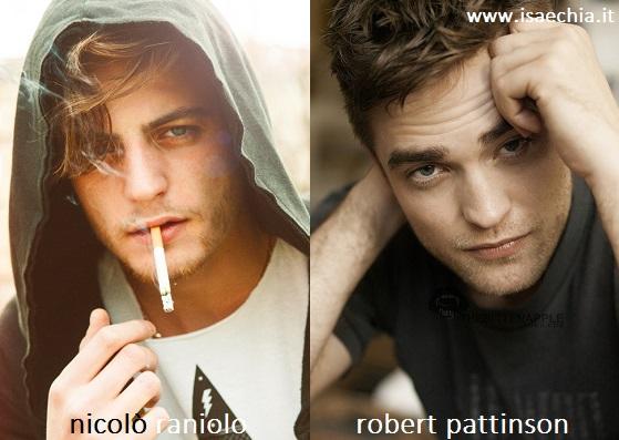 Somiglianza tra Nicolò Raniolo e Robert Pattinson