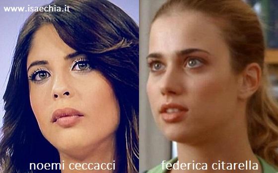 Somiglianza tra Noemi Ceccacci e Federica Citarella
