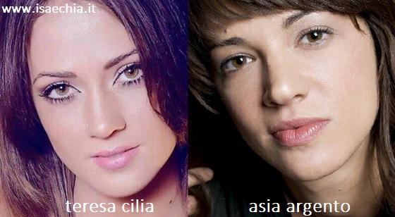 Somiglianza tra Teresa Cilia e Asia Argento