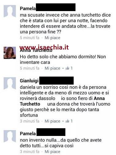 Anna Turchetto commenta lo stato di Franco Garna