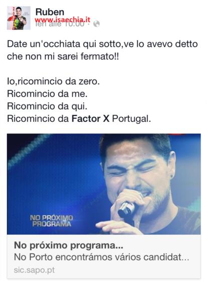 Ruben Mendes su Facebook