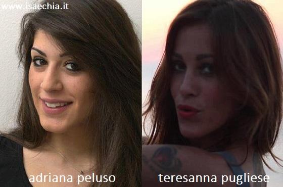 Somiglianza tra Adriana Peluso e Teresanna Pugliese