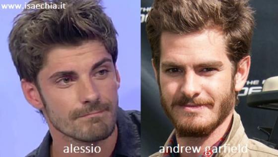 Somiglianza tra Alessio e Andrew Garfield