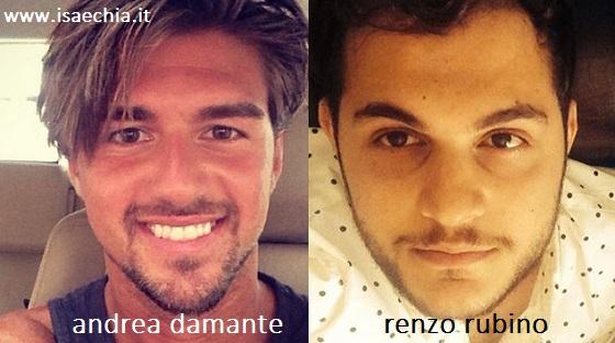 Somiglianza tra Andrea Damante e Renzo Rubino