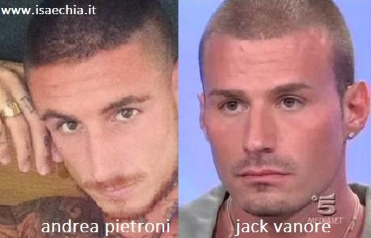 Somiglianza tra Andrea Pietroni e Jack Vanore