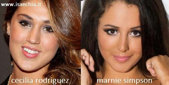 Somiglianza tra Cecilia Rodriguez e Marnie Simpson