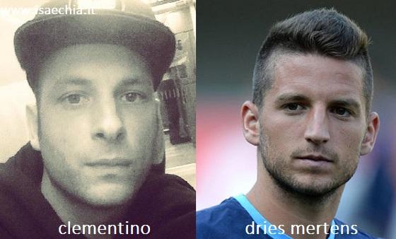 Somiglianza tra Clementino e Dries Mertens