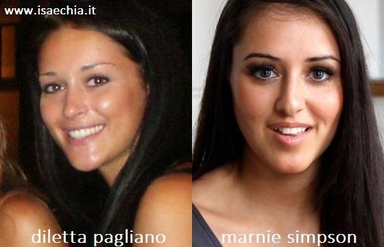 Somiglianza tra Diletta Pagliano e Marnie Simpson