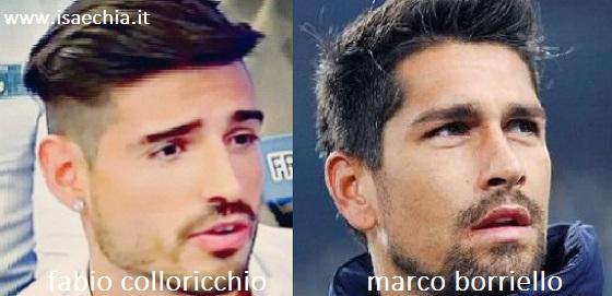 Somiglianza tra Fabio Colloricchio e Marco Borriello