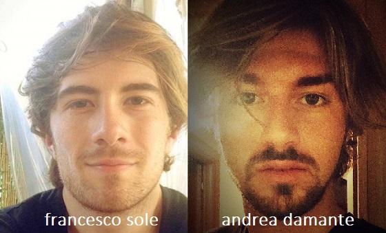 Somiglianza tra Francesco Sole e Andrea Damante