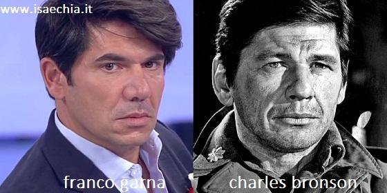 Somiglianza tra Franco Garna e Charles Bronson
