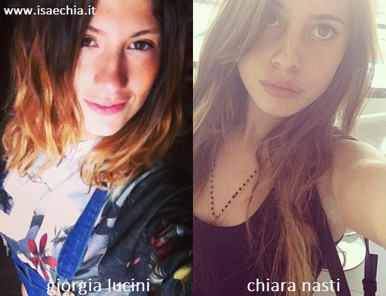 Somiglianza tra Giorgia Lucini e Chiara Nasti