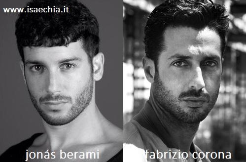 Somiglianza tra Jonás Berami e Fabrizio Corona