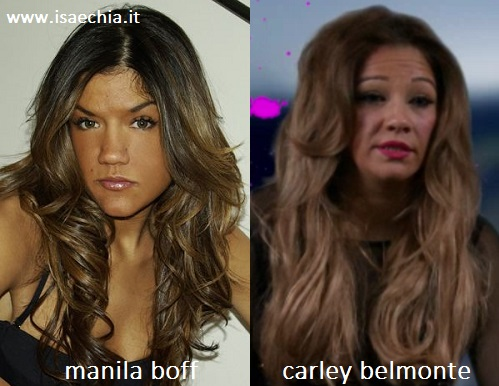 Somiglianza tra Manila Boff e Carley Belmonte