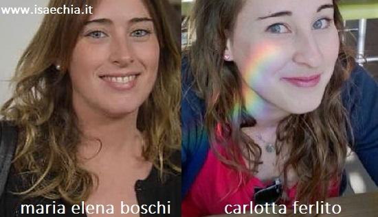 Somiglianza tra Maria Elena Boschi e Carlotta Ferlito