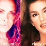 Somiglianza tra Maria Lebano e Cindy Crawford