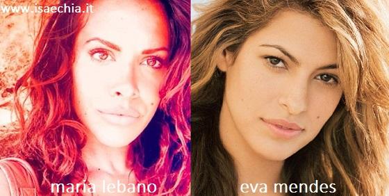 Somiglianza tra Maria Lebano e Eva Mendes