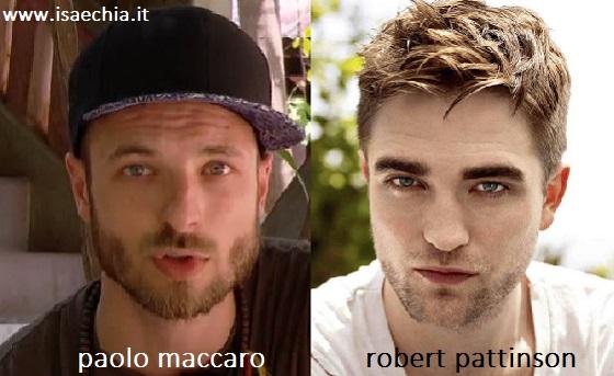 Somiglianza tra Paolo Maccaro e Robert Pattinson