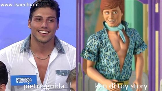 Somiglianza tra Pietro Guida e il Ken di Toy story