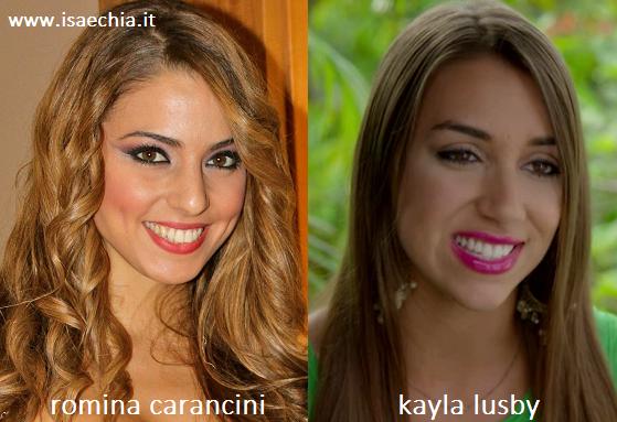 Somiglianza tra Romina Carancini e Kayla Lusby