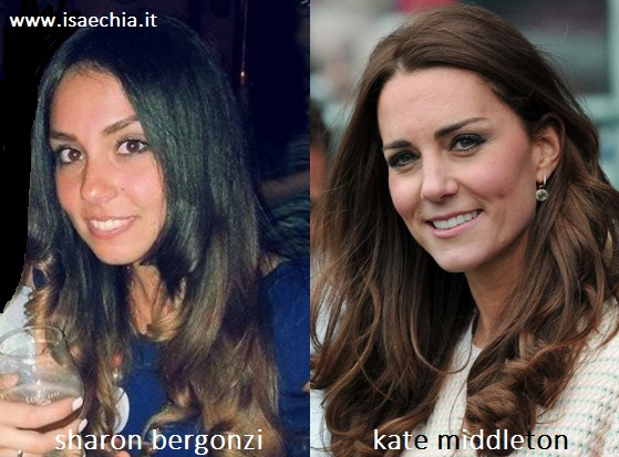 Somiglianza tra Sharon Bergonzi e Kate Middleton